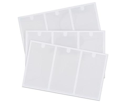 Betzold Selbstklebetasche inkl Einsteckschilder 102 x 55 mm 18 Stueck