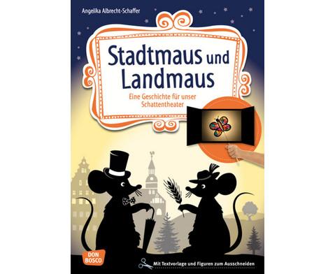 Stadtmaus und Landmaus - Schattentheater-Set