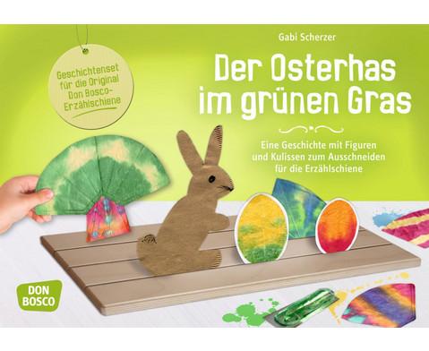 Der Osterhas im gruenen Gras - Figuren fuer die Erzaehlschiene