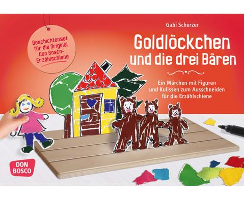 Goldloeckchen und die drei Baeren - Figuren fuer die Erzaehlschiene