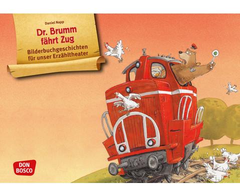 Bildkarten Dr Brumm faehrt Zug