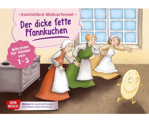 Bildkarten U3 Der dicke fette Pfannkuchen erzaehlt fuer Krippenkinder