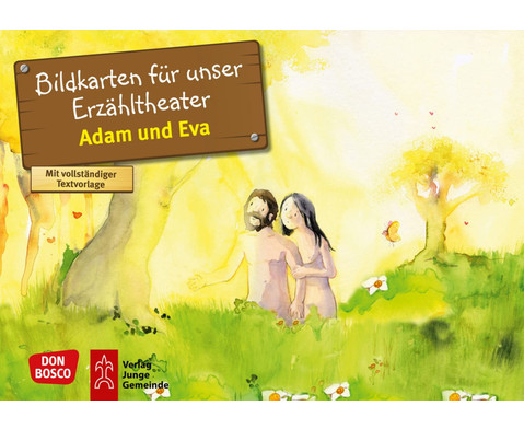 Adam und Eva Kamishibai-Bildkartenset