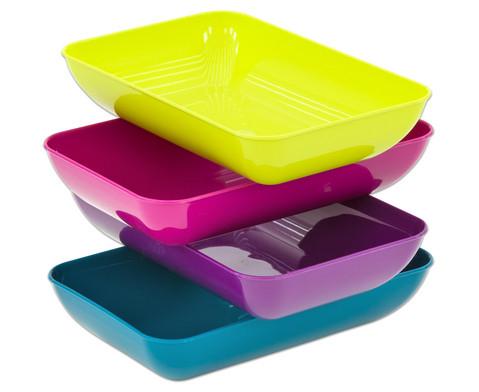 Betzold Materialschalen 4er-Set in modernen Farben