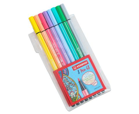 STABILO Pen 68 Pastellfarben - 8er-Etui-2