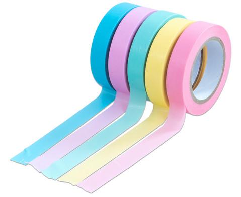 Washi Tape Set aus 5 Rollen Uni Pastell