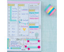 Washi Tape Set aus 5 Rollen Uni Pastell-5