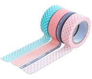 Washi Tape aus 4 Rollen, Geometrisch