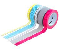 Washi Tape aus 5 Rollen - Neon gelb, grau, rot, blau