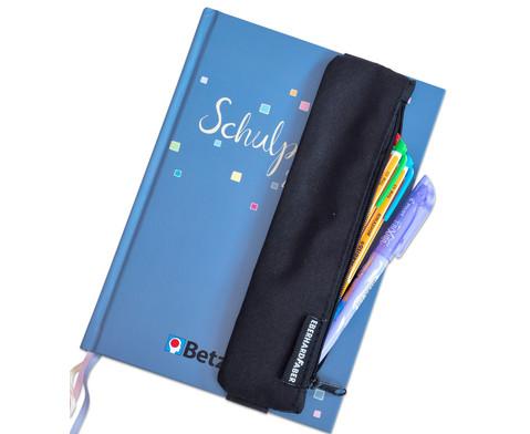 Stifte-Etui mit Gummiband schwarz