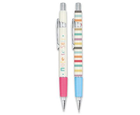 Schreib-Set Happy me - Kugelschreiber und Druckbleistift