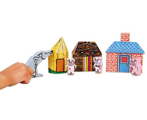 Die drei kleinen Schweinchen - Erzaehlfiguren aus Holz