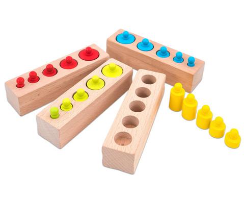 Montessori-Steckspiel Zylinder