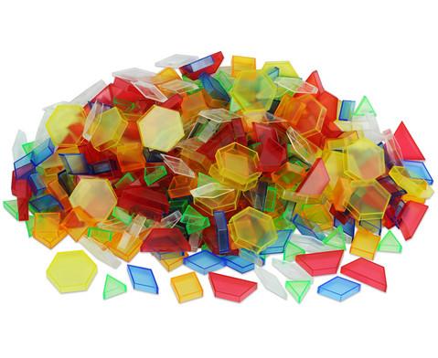 Betzold Transparente Pattern Blocks 360 Teile in Stapelbox