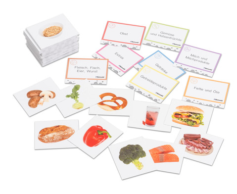 Lebensmittel Sortierspiel Quizzerkarten