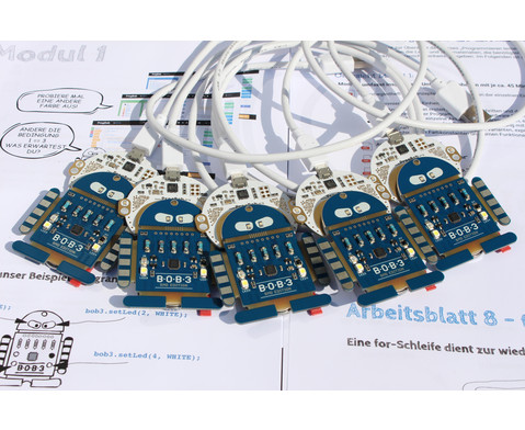 BOB3 Sekundarstufenset inkl 5 BOB3 Roboter