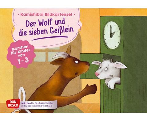 Der Wolf und die sieben Geisslein Kamishibai-Bildkartenset fuer U3