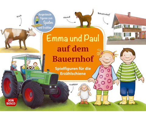 Emma und Paul auf dem Bauernhof Spielfiguren fuer die Erzaehlschiene
