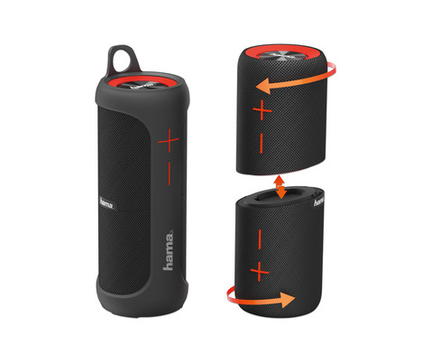hama Mobiler Bluetooth-Lautsprecher Soundcup-D