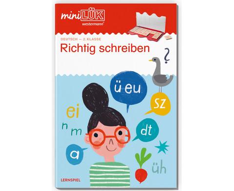 miniLUEK Richtig schreiben Deutsch 2 Klasse