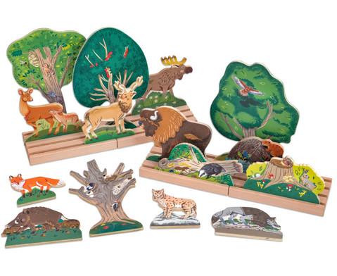 Tiere-im-Wald-Holztheater