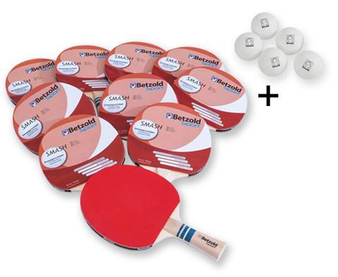 Betzold 50 Jahre Tischtennisschlaeger Smash 10er-Set  5 Baelle GRATIS