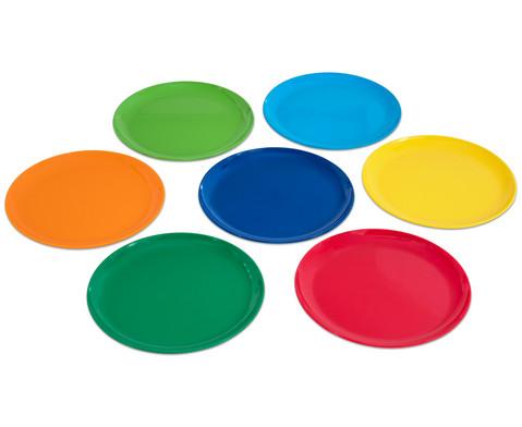 6 Teller flach  19 cm oder 24 cm