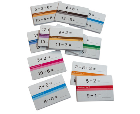 Betzold Selbstlernkarten fuer den Zahlenraum 20 100 oder 1000