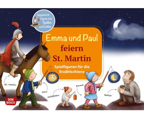 Emma und Paul feiern St Martin Spielfiguren fuer die Erzaehlschiene