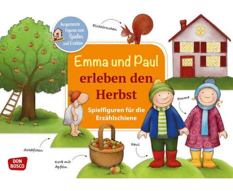Emma und Paul erleben den Herbst Spielfiguren fuer die Erzaehlschiene