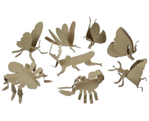 Insekten und Spinnentiere aus Pappe 24 Stueck