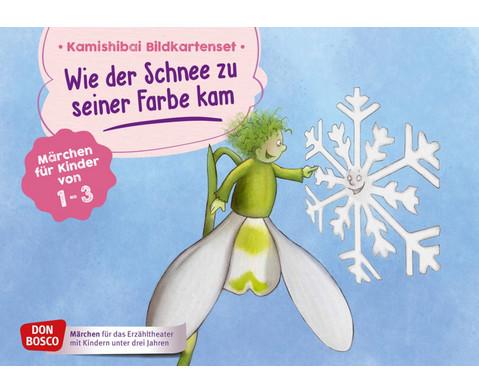 Wie der Schnee zu seiner Farbe kam Kamishibai-Bildkartenset fuer U3