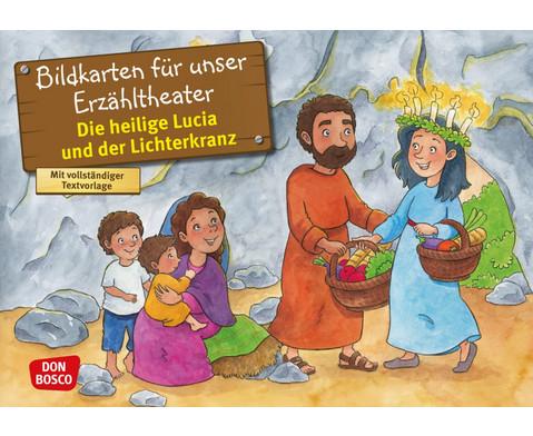Bildkarten Die heilige Lucia und der Lichterkranz