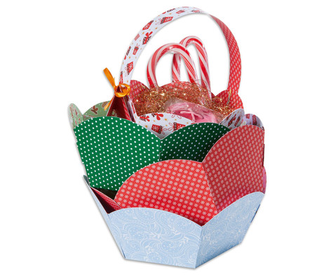 Geschenkkoerbchen-Set Weihnachten 9 Stueck