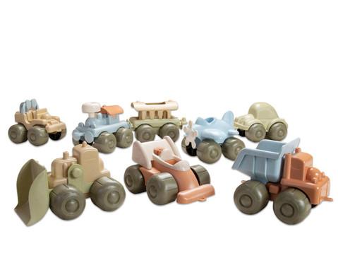 Fahrzeugset aus Biokunststoff 8-tlg