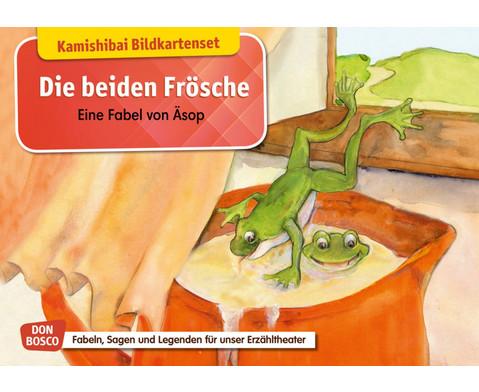 Die beiden Froesche Eine Fabel von AEsop Kamishibai-Bildkartenset