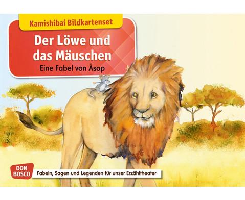Der Loewe und das Maeuschen Kamishibai-Bildkartenset