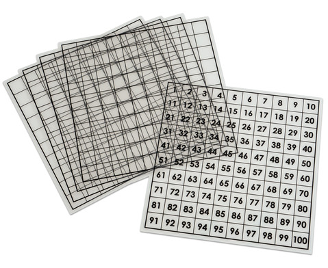 Betzold Hundertertafeln transparent 5 Stueck