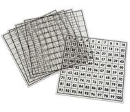 Hundertertafeln, 5 Stück, transparent