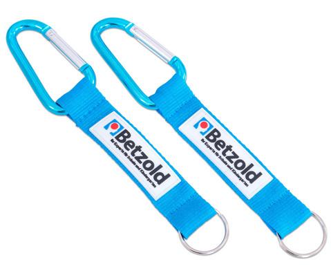Betzold Kurzband mit Schluesselring und Karabiner 2 Stueck