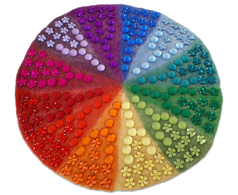 Regenbogen Filzmatte mit Funkelsteinen 241 Teile