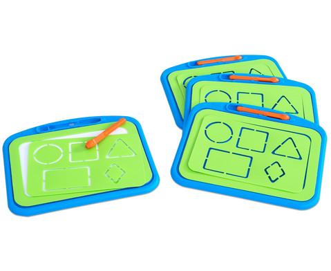 Prickel-Tafeln Set mit 4 Tafeln und 4 Prickelstiften