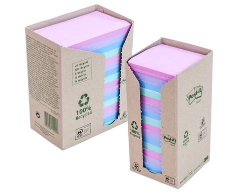 Post-it Recycling Z-Notes Tower quadratisch oder rechteckig