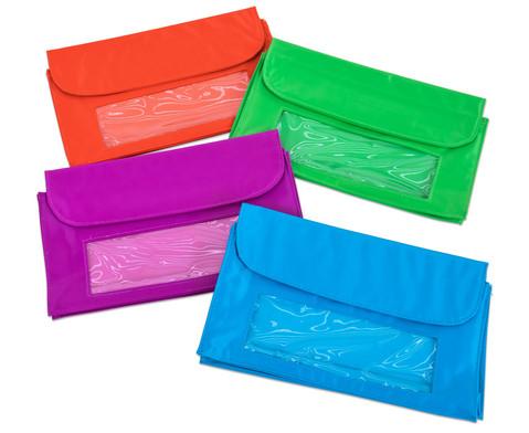 Aufbewahrungs-Taschen magnetisch - 4 Stueck mit Sichtfenster