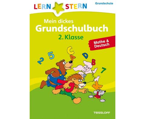 Lernstern Mein dickes Grundschulbuch 2 Klasse Deutsch  Mathe