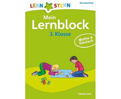 Lernstern Mein Lernblock 3 Klasse Mathe  Deutsch