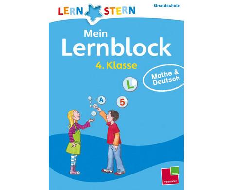 Lernstern Mein Lernblock 4 Klasse Mathe  Deutsch