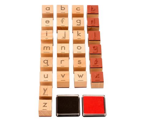 Buchstaben stempeln