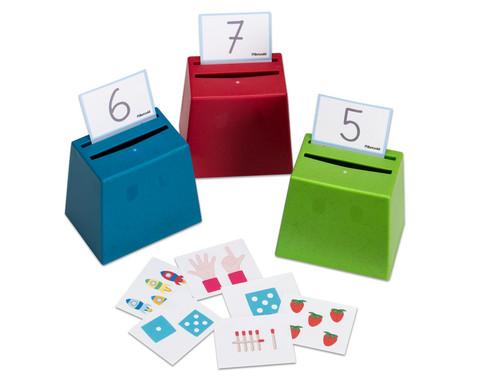 Mengen und Zahlen Sortierspiel Quizzerkarten