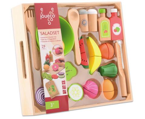 Salat-Set aus Holz 29-tlg